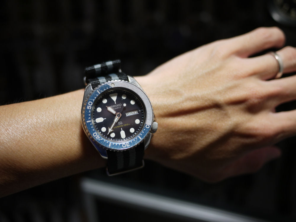 thread seiko divers for skinny wrists